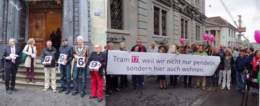 Übergabe Petition Tram 17